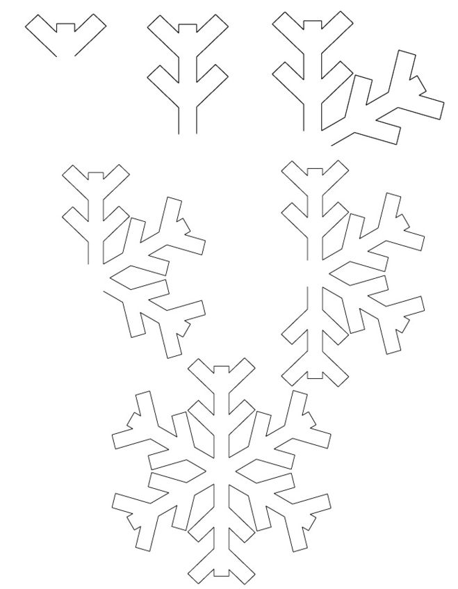 самые простые снежинки фото 1