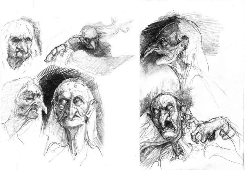 страшные рисунки карандашом