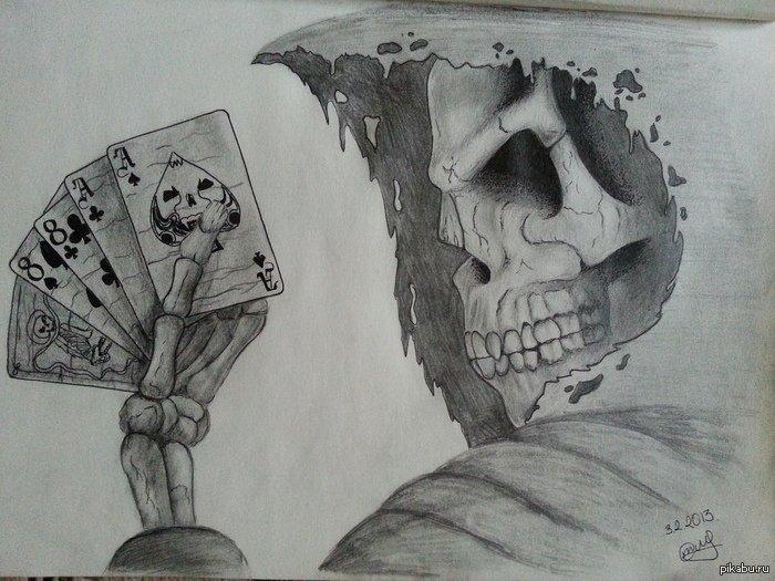 готовые страшные рисунки карандашом, фото 1