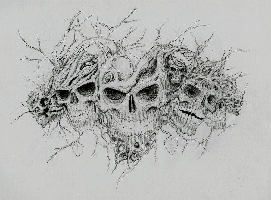готовые страшные рисунки карандашом, фото 2