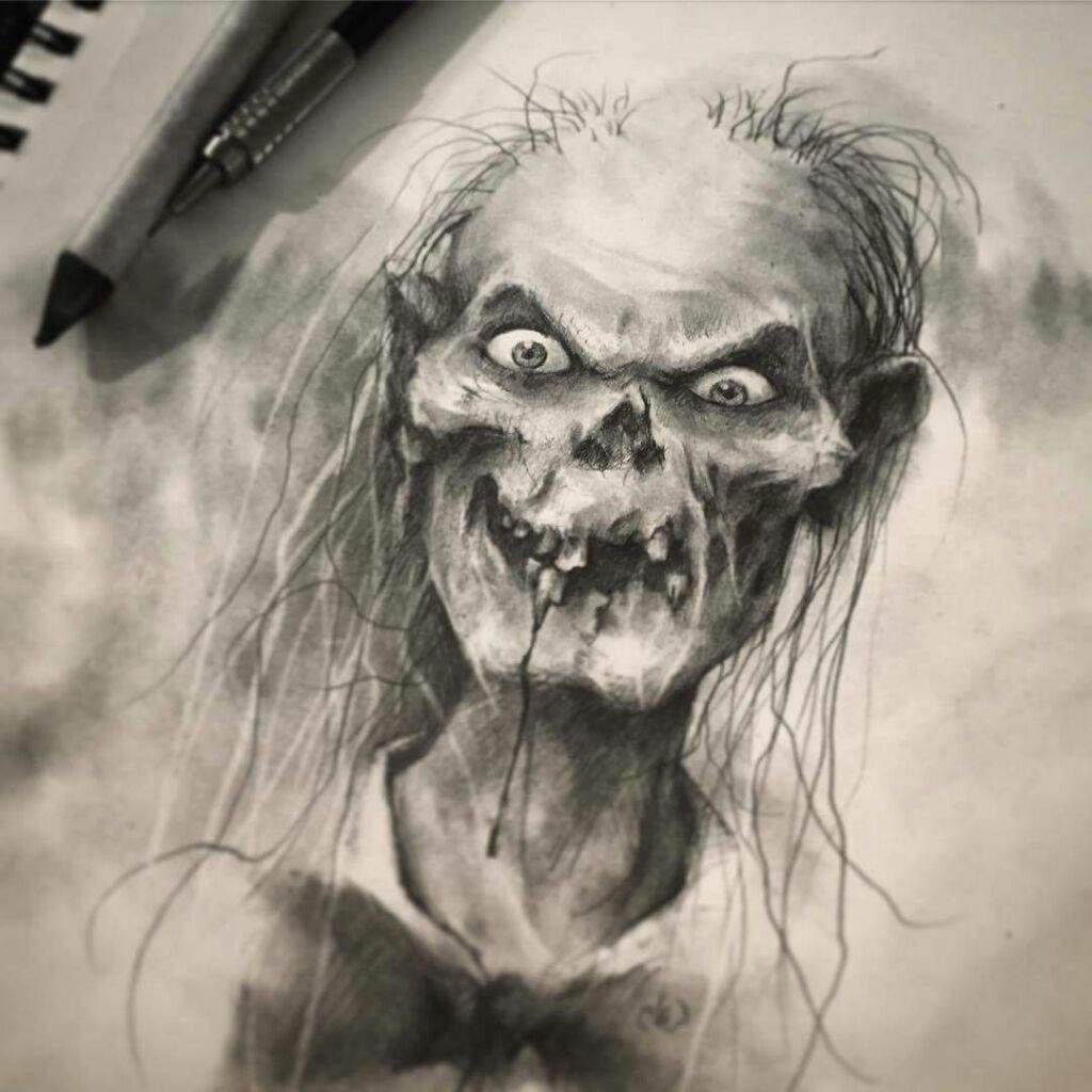 страшные рисунки карандашом для взрослых, фото идеи 1