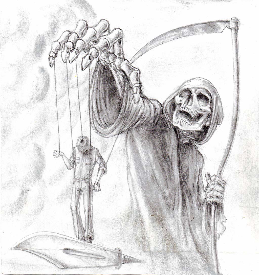 страшные рисунки карандашом для взрослых, фото идеи 2
