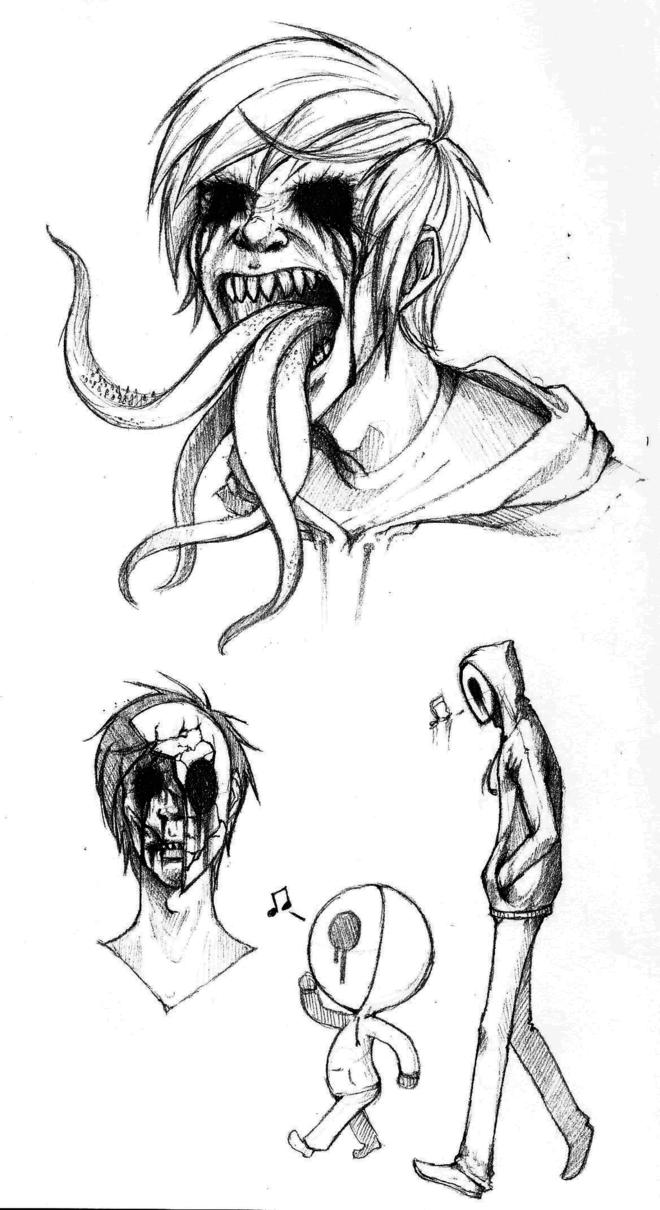 страшные рисунки карандашом для взрослых, фото идеи 3