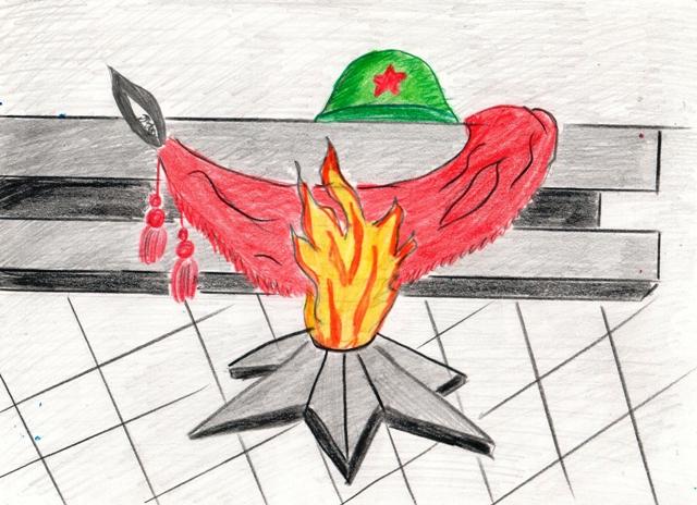 вечный огонь рисунок карандашом, фото готовых работ 2
