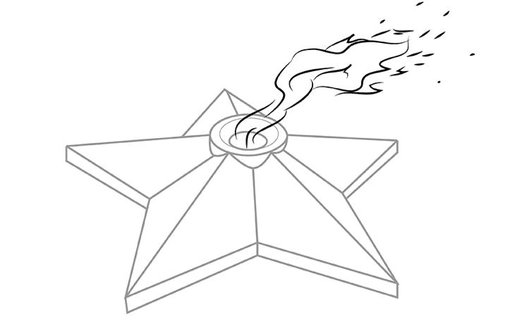 вечный огонь рисунок карандашом - легкий МК с фото 5