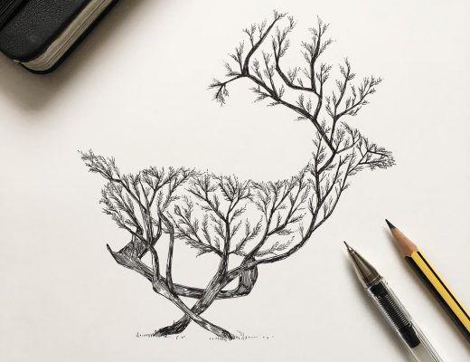 черные рисунки для срисовки, фото идеи 1