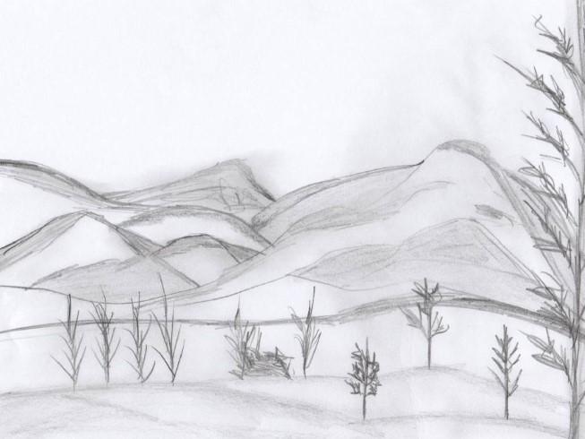 пейзаж - идеи рисунков на фото 1