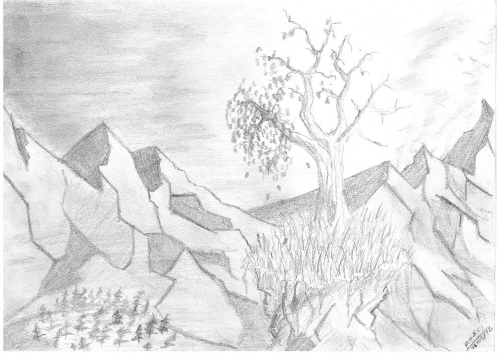 пейзаж - идеи рисунков на фото 2