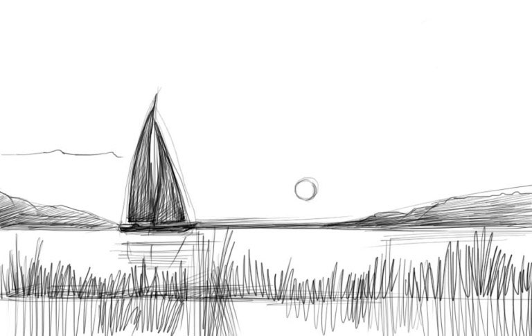 пейзаж - идеи рисунков на фото 3