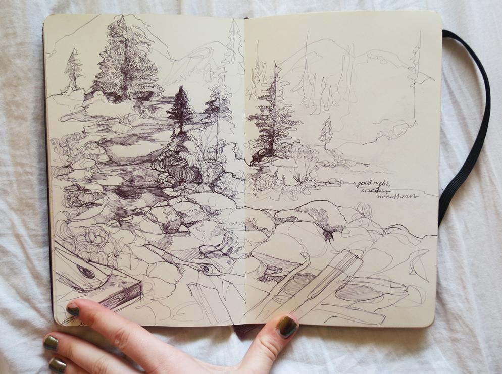 зарисовка на тему «Природа»