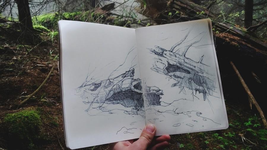 арисовка на тему «Природа» фото 1
