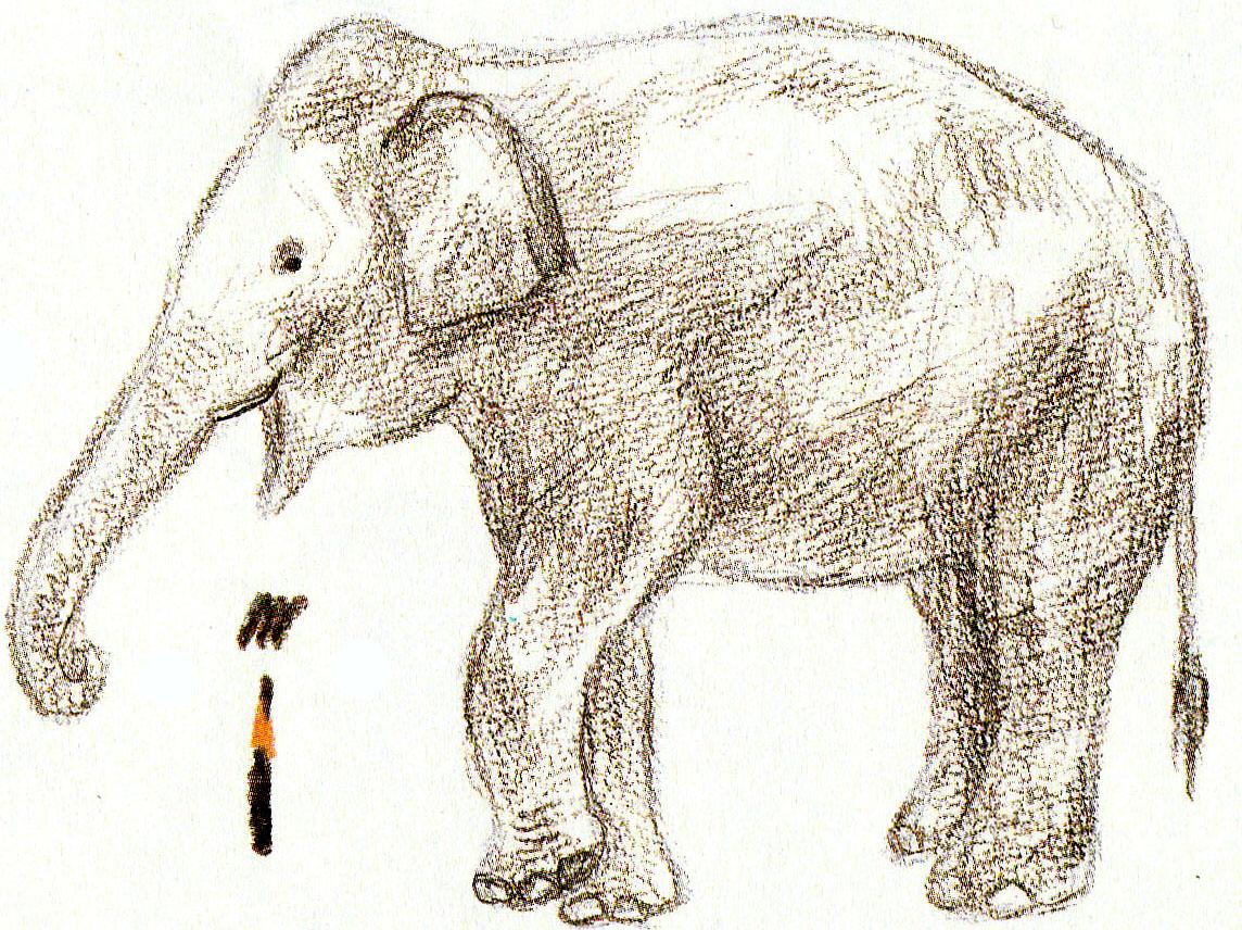 готовые рисунки слона карандашом, фото идеи 2