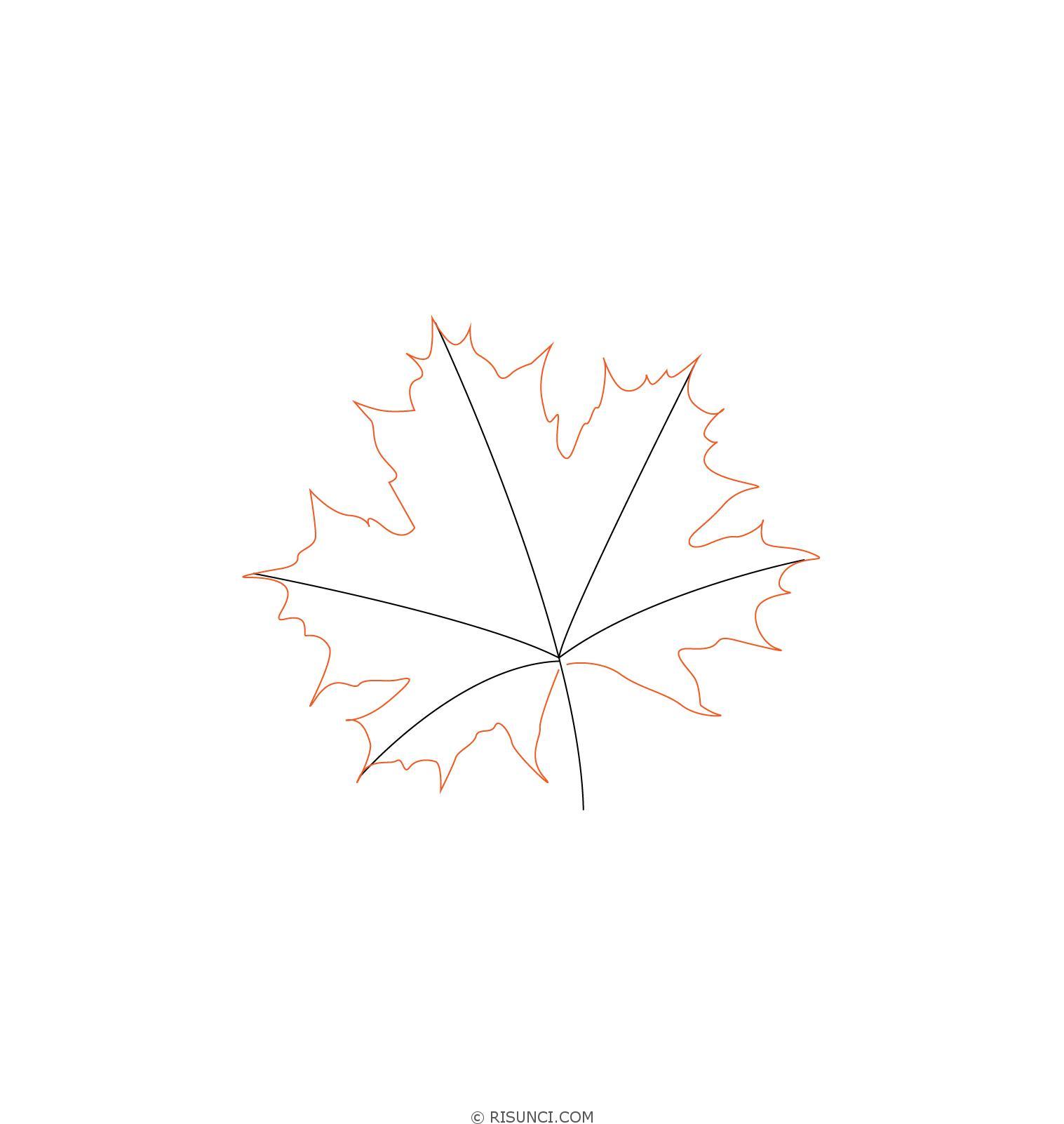 картинки кленовых листьев и как нарисовать