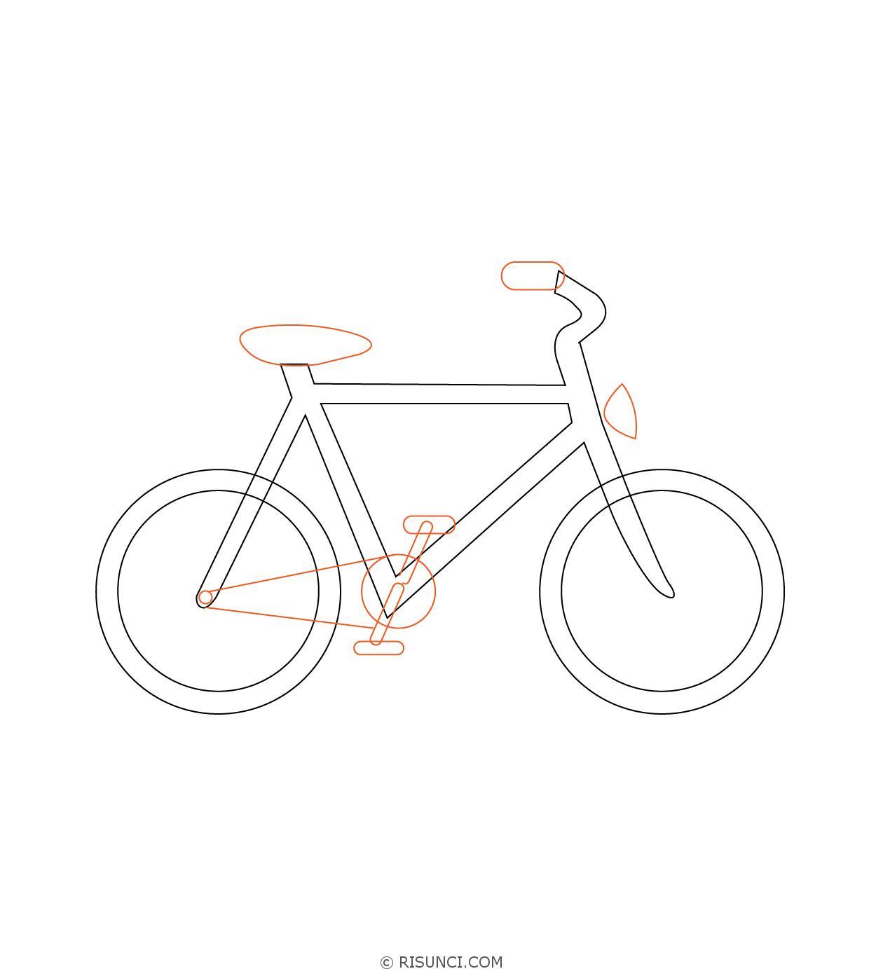 велосипед картинки для рисования зря такую кольцевую