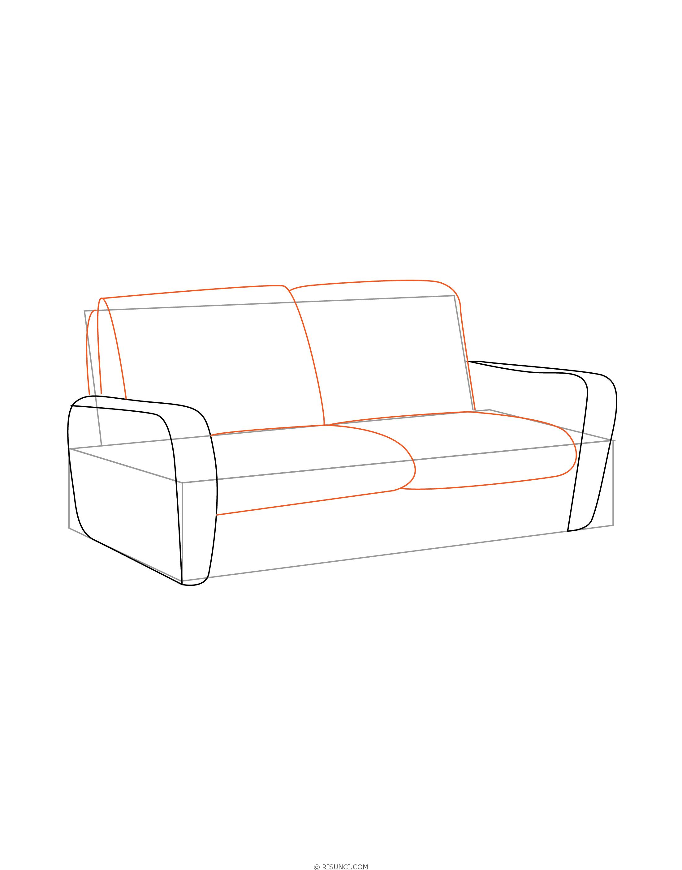 рисунки диванов и кресел нашей, казалось бы