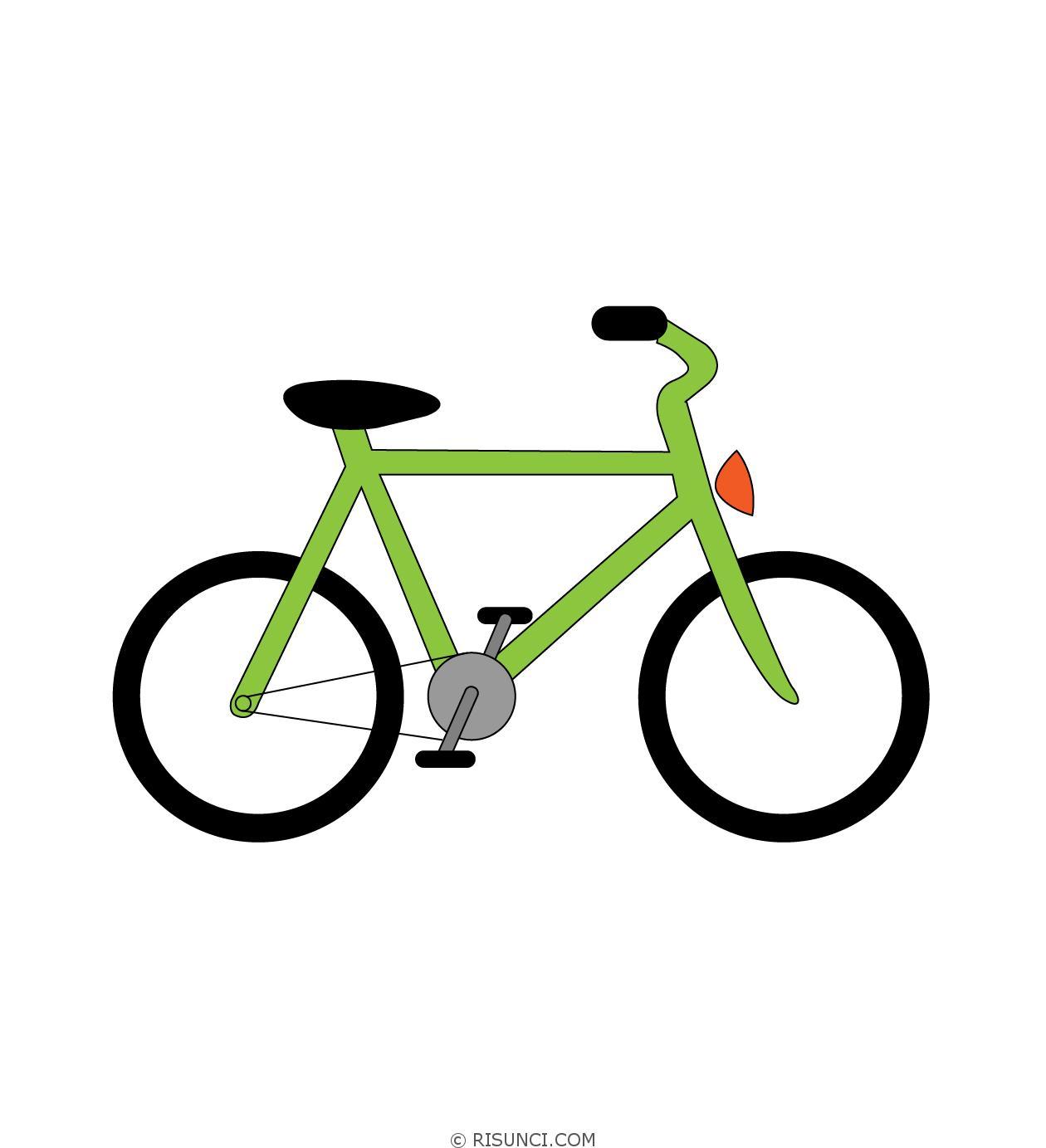 картинки велосипедиста карандашом поэтапно эти