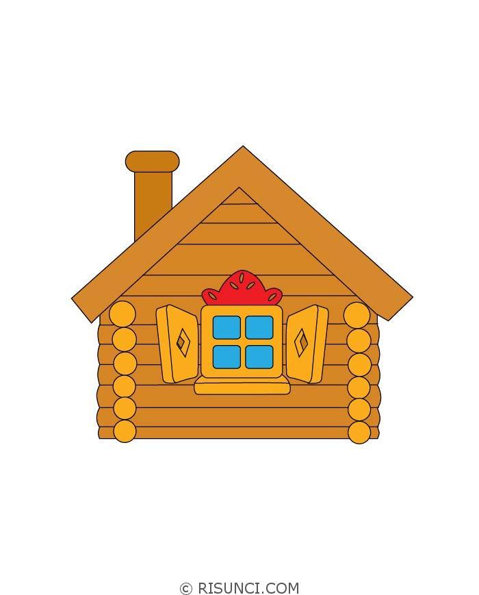 Картинка деревянный домик для детей