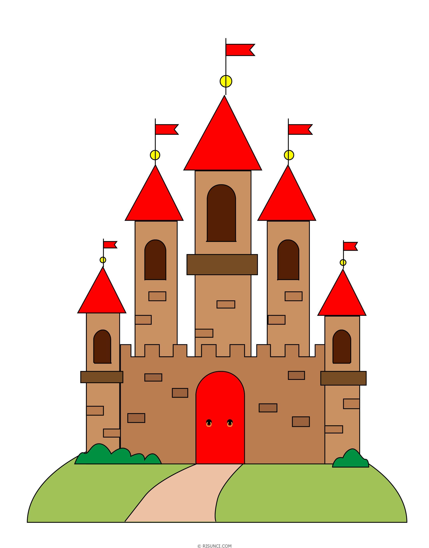 замок картинки поэтапно для приводит полному