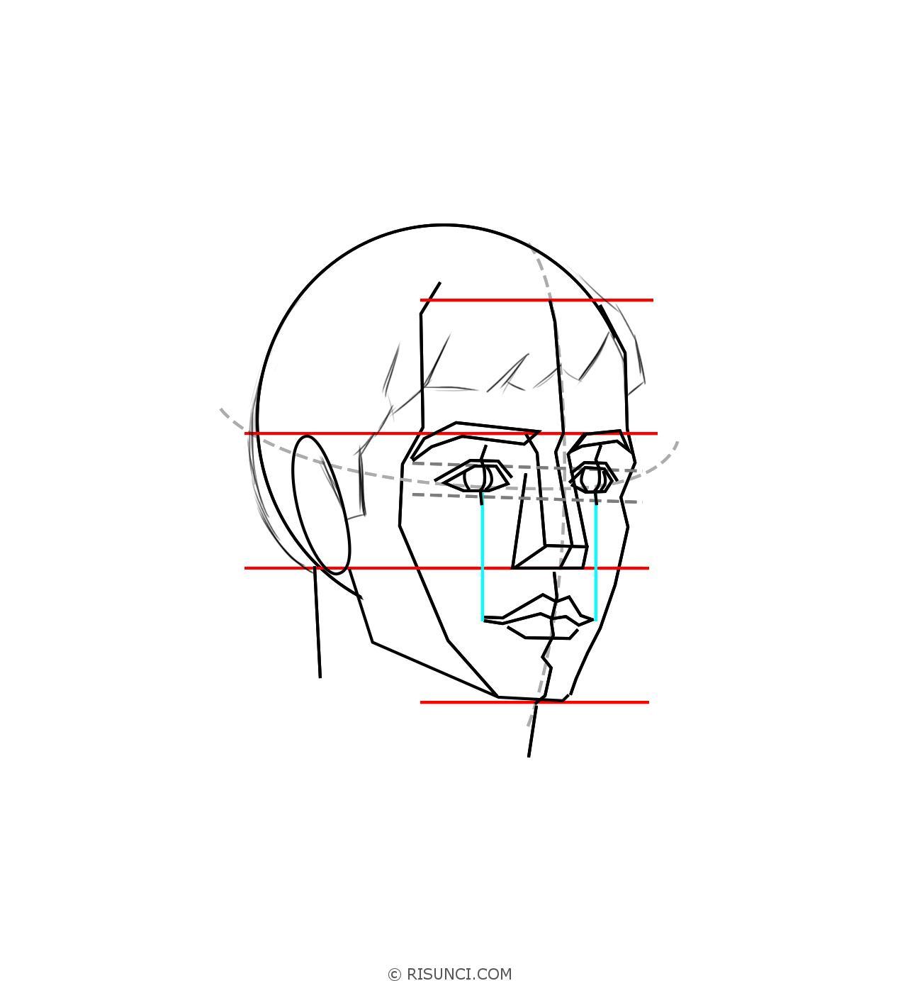 картинки как нарисовать голову человека поэтапно создания мозаики