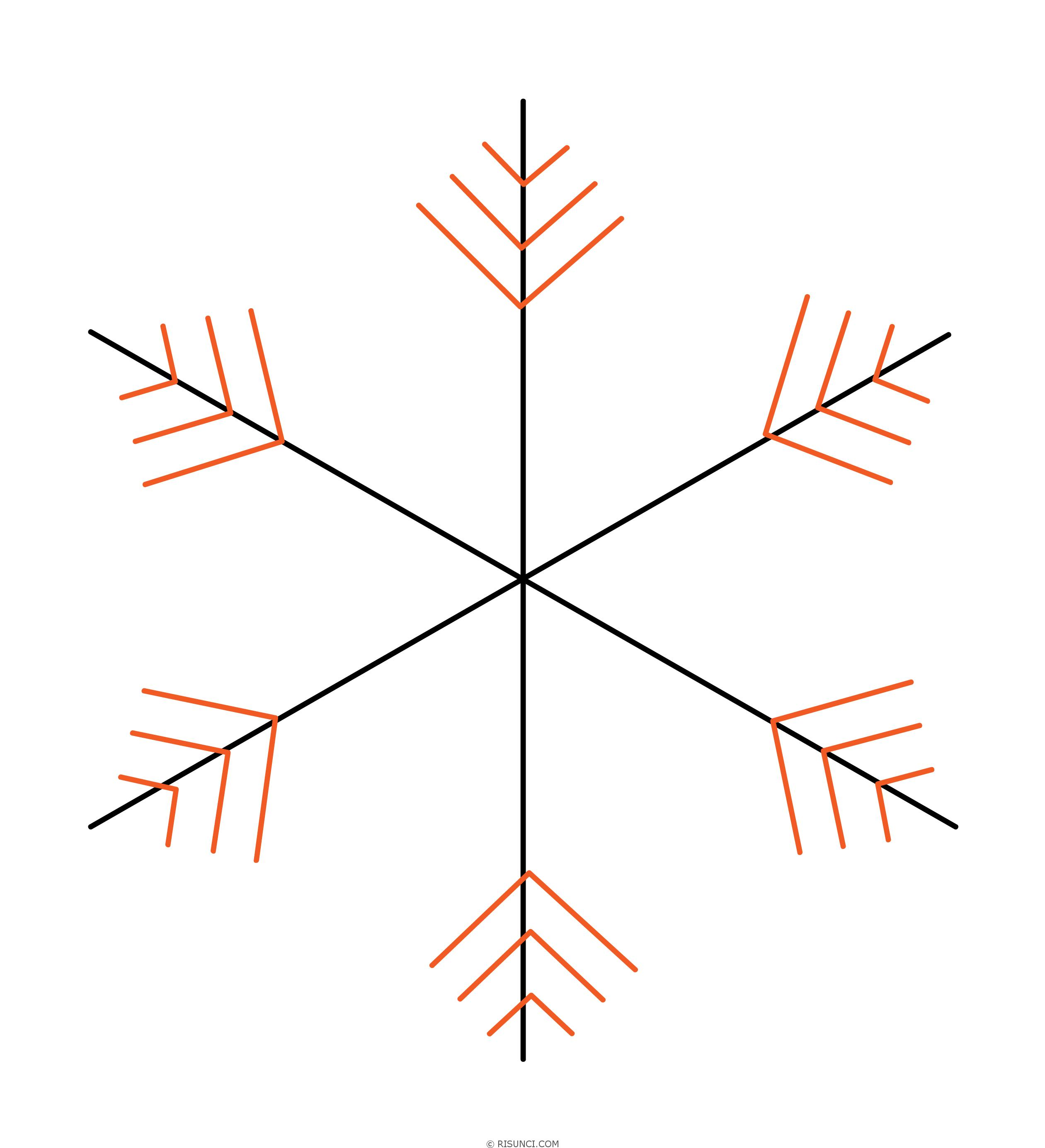 Картинки как нарисовать снежинку