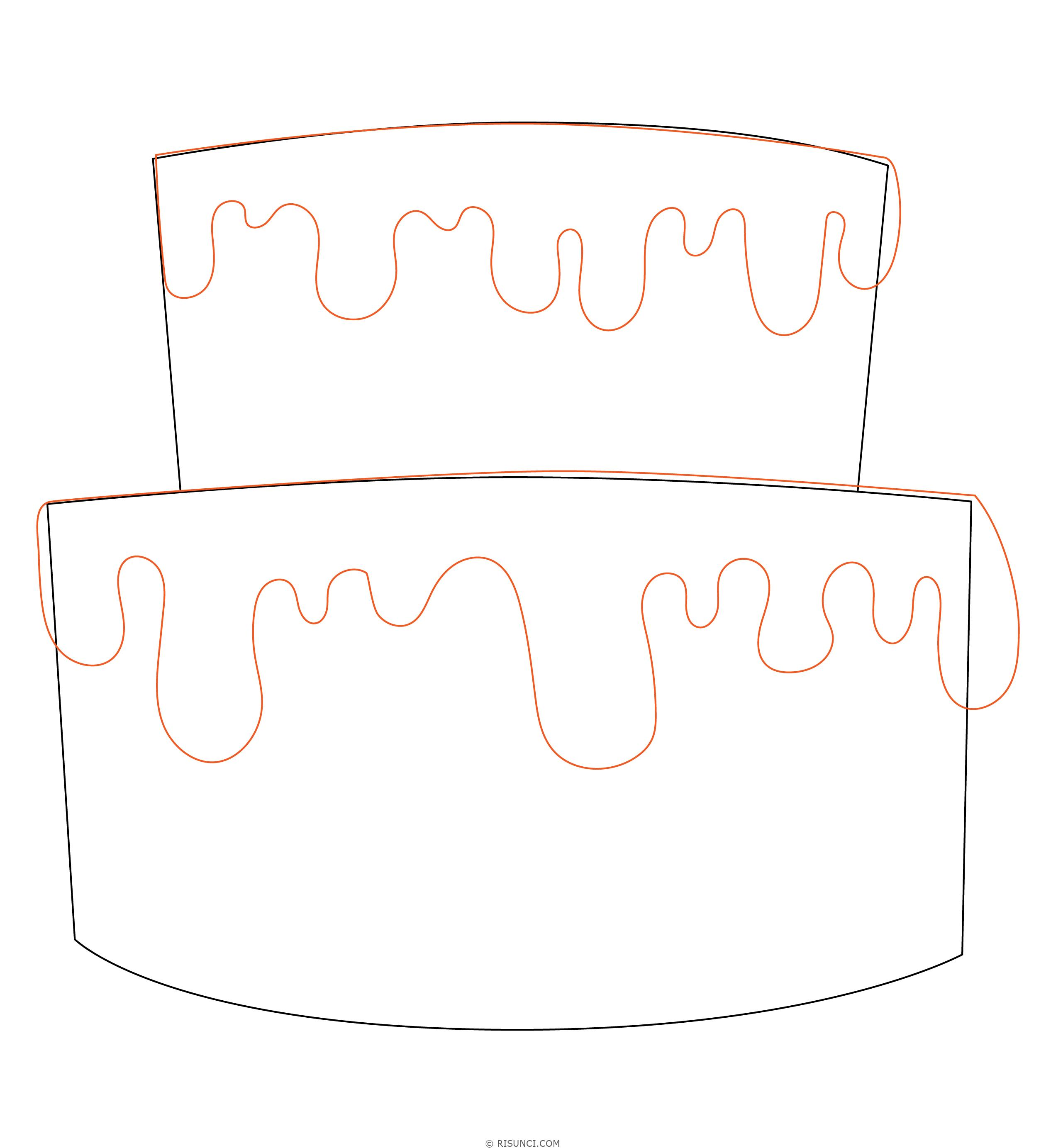 картинки как нарисовать торт карандашом поэтапно задачей при этом