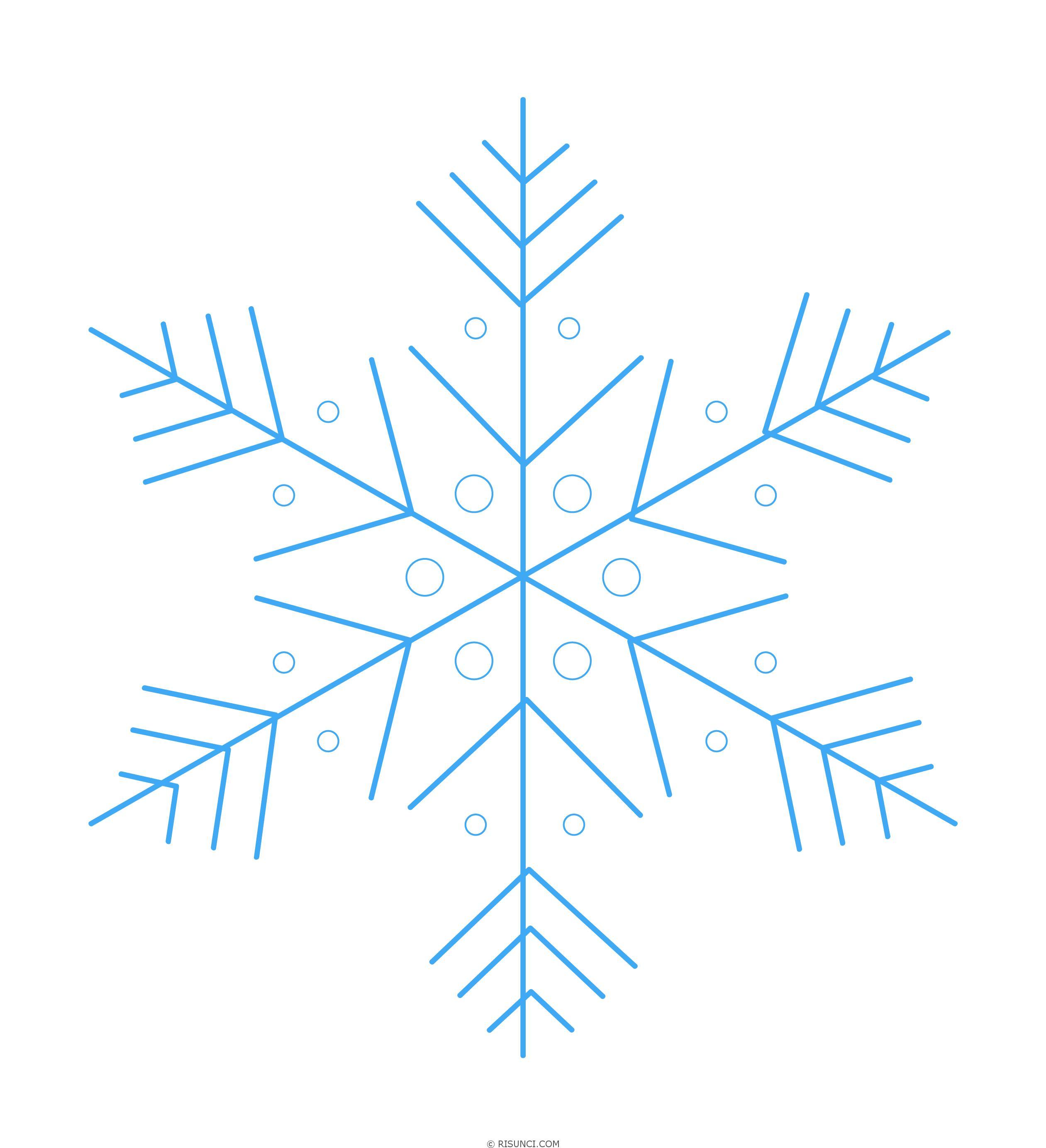 картинки снежинки карандашом родинка находится