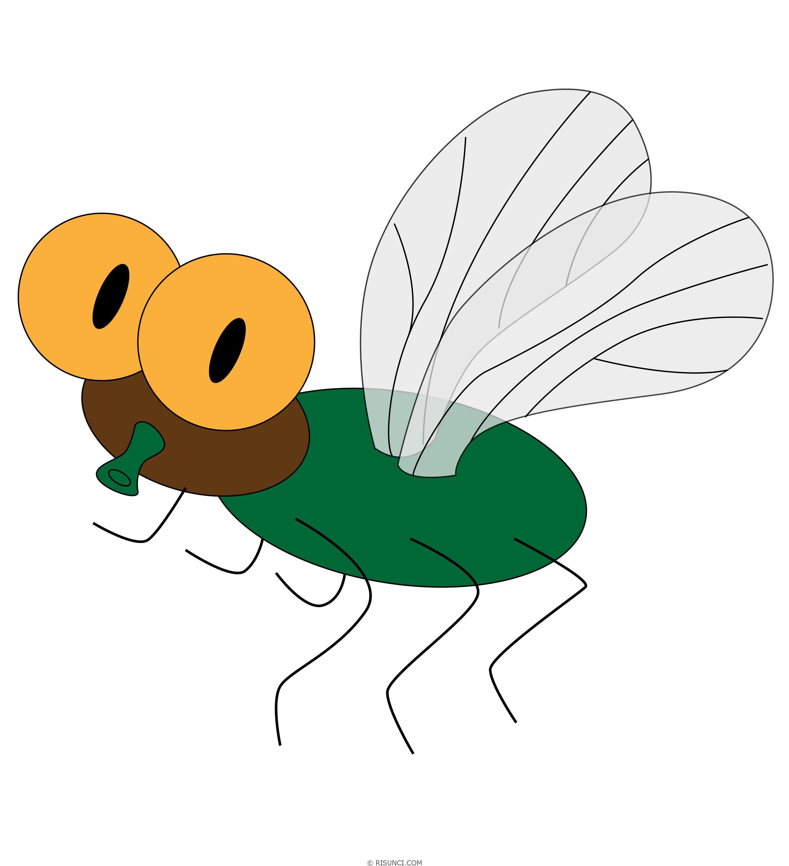 Картинка мухи детский