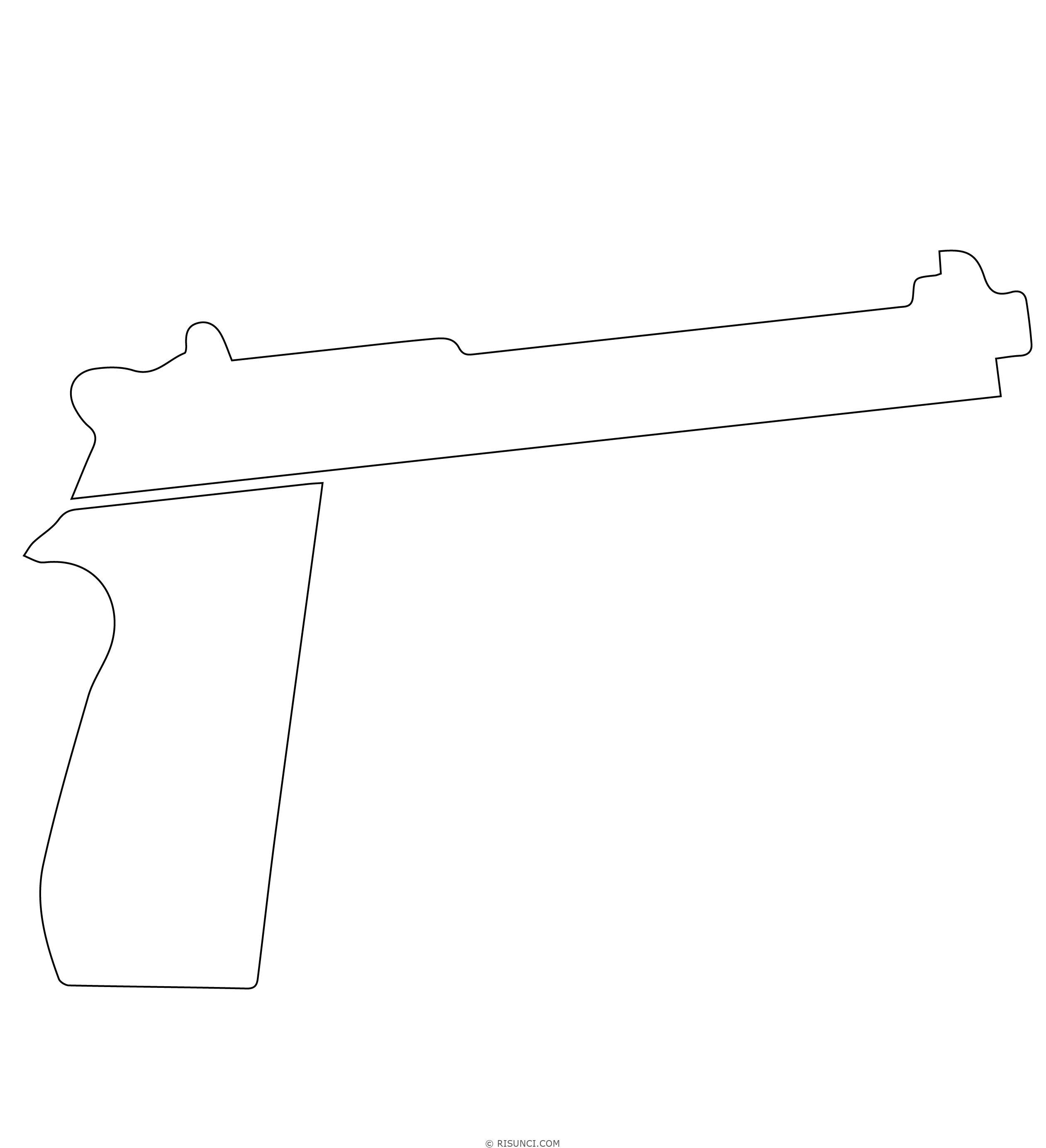 Картинки пистолета поэтапно