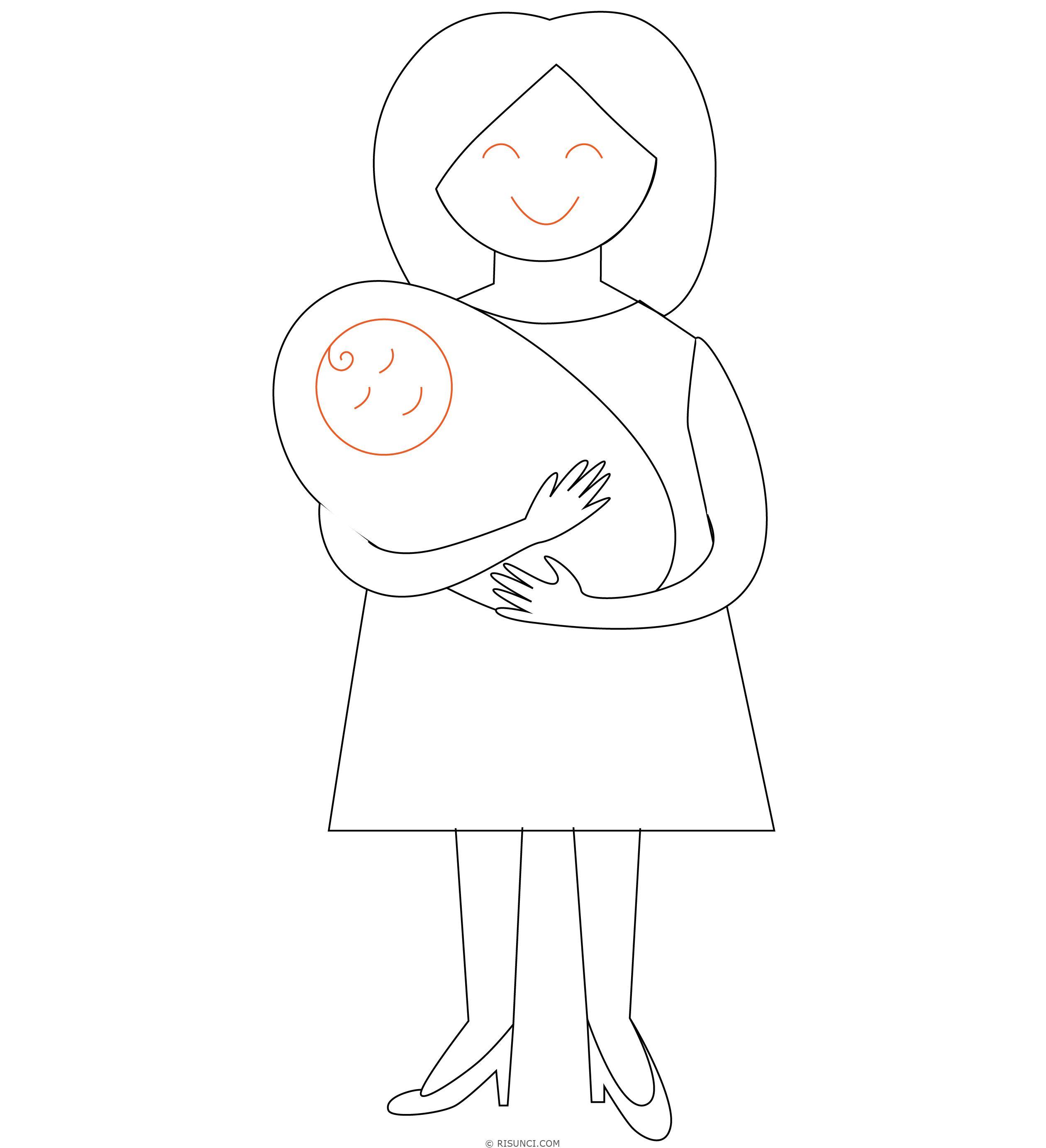 Смешные, картинка для мамы просто так нарисовать