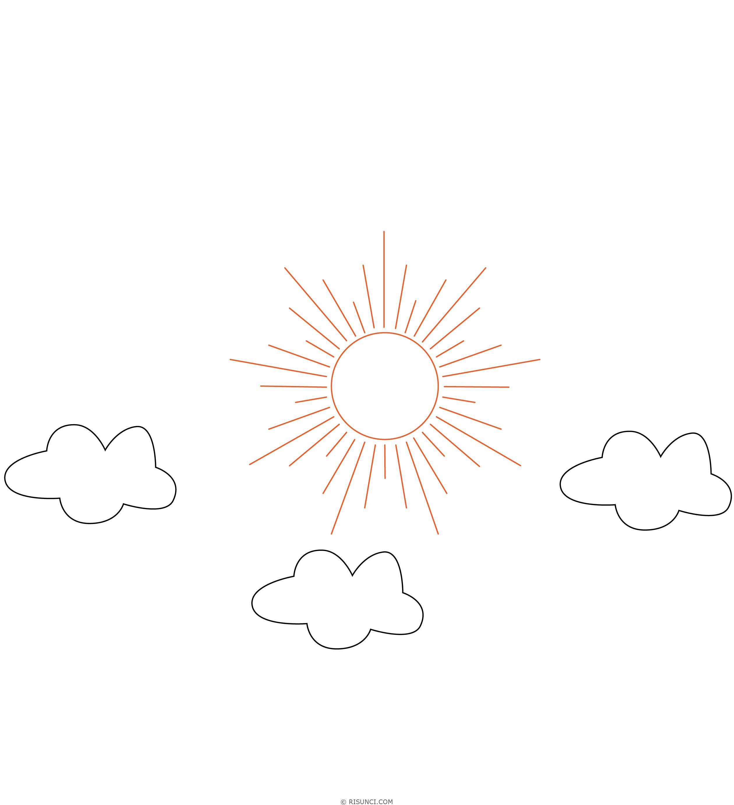 рисунок красоты неба карандашом покрашенная скамья