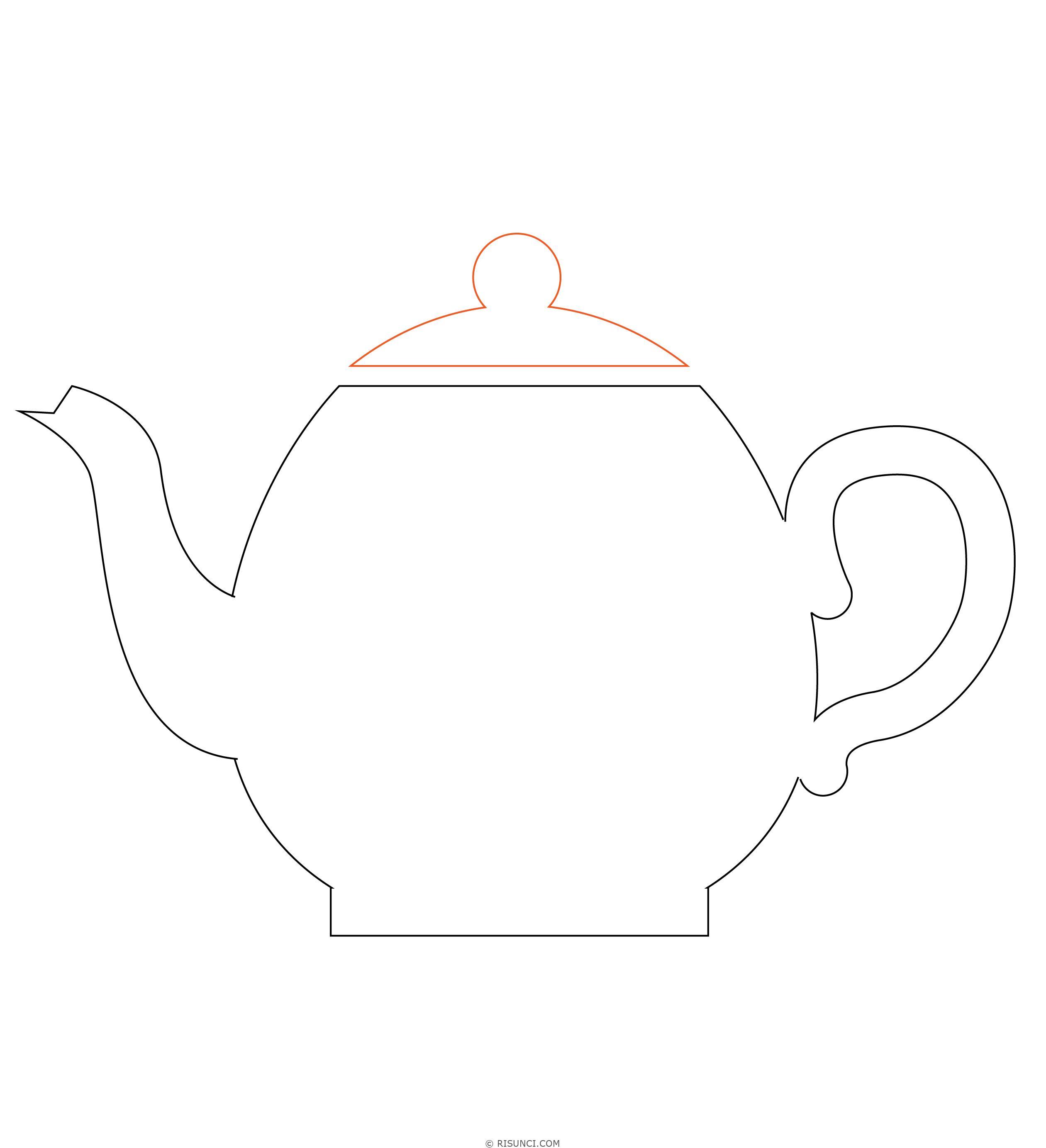 Картинки чайник рисовать