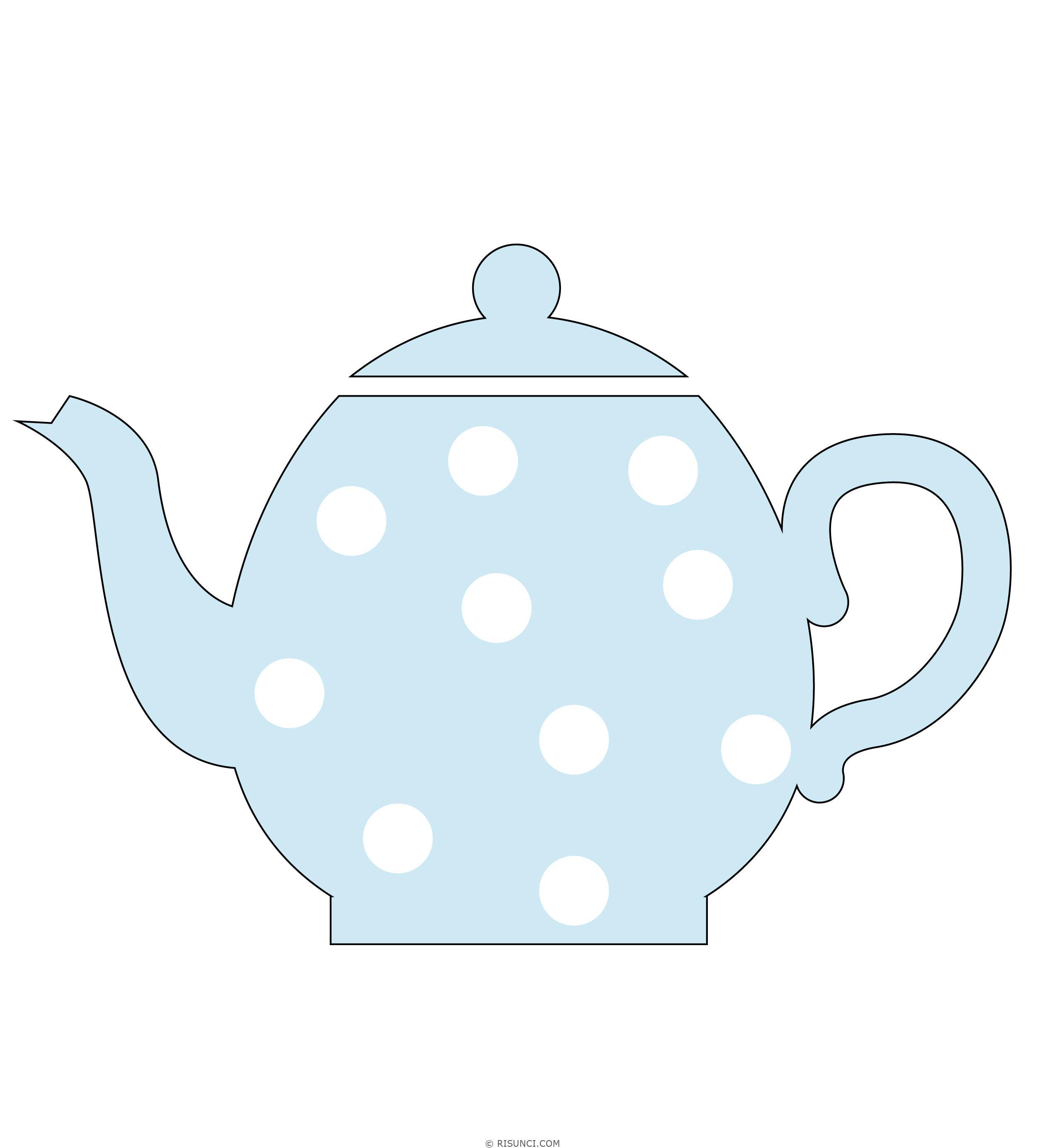 картинки чайник нарисовать